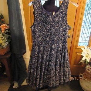 JB618.   Navy and Lace Dress.